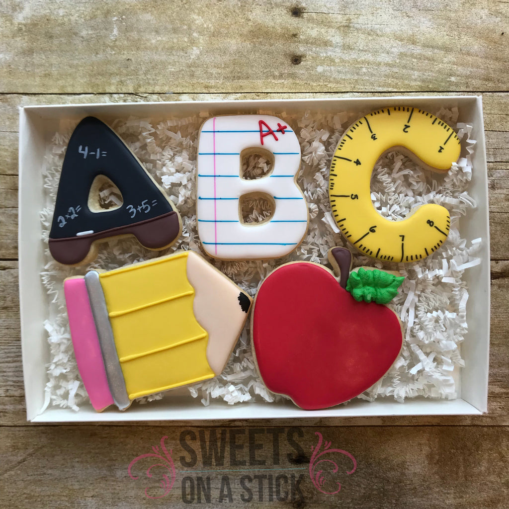 Back to School Five Cookie Set