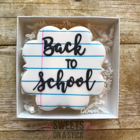 Back to/First Day of School Cookie