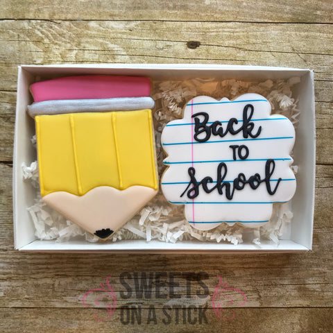 Back to School Two Cookie Set