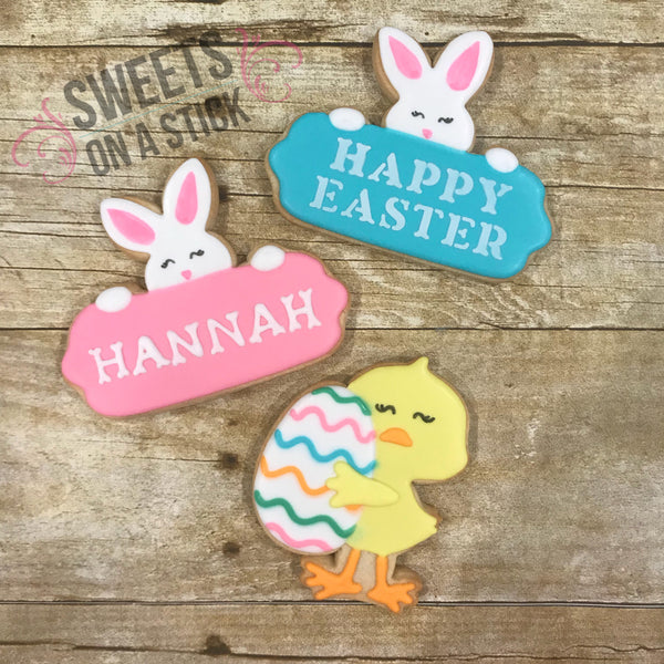 Easter Bunny and Chick Cookies