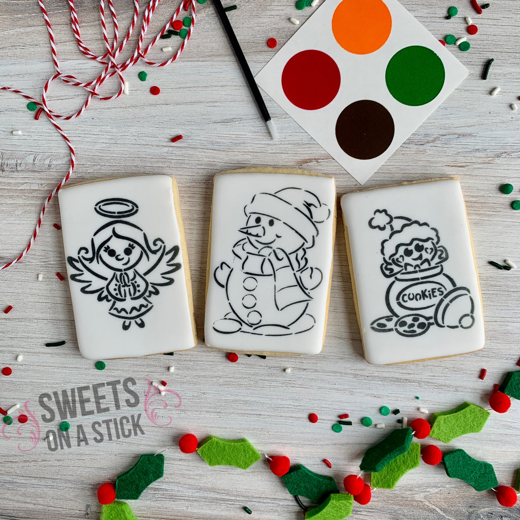 Christmas Paint-Your-Own Cookies