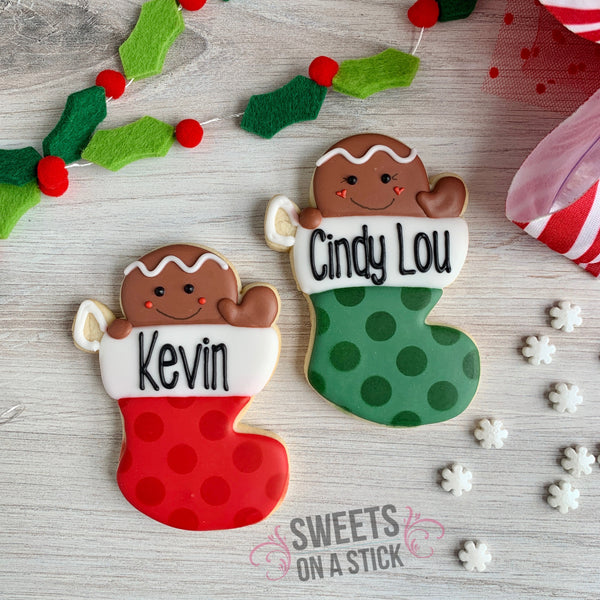 Personalized Stocking Cookie