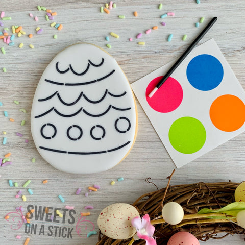Easter Egg Paint-Your-Own Cookie