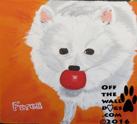 American eskimo print from original painting 8x10