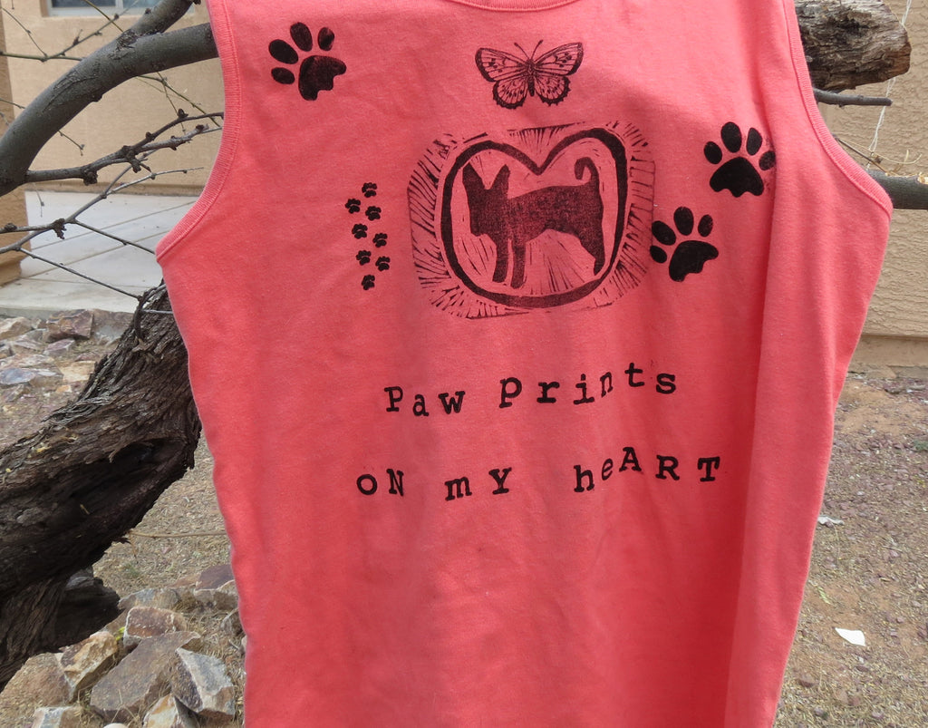Paw Prints on my heart, Tank top