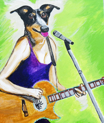 Cattle Dogs Rock 8x10 wall art print