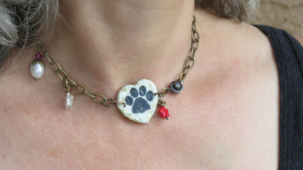 Dog Paw Necklace and/or Bracelet