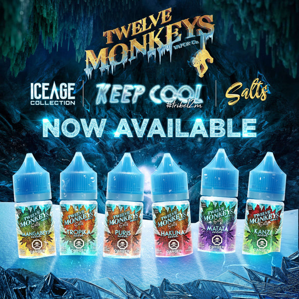 Twelve Monkeys Ice Age Salts - Vapetrunk Company Inc.