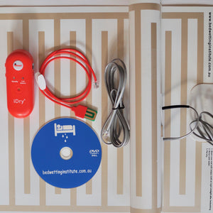 iDry Bed Wetting Alarm -Loudest +two mats+underpants sensor + DVD bedwetting