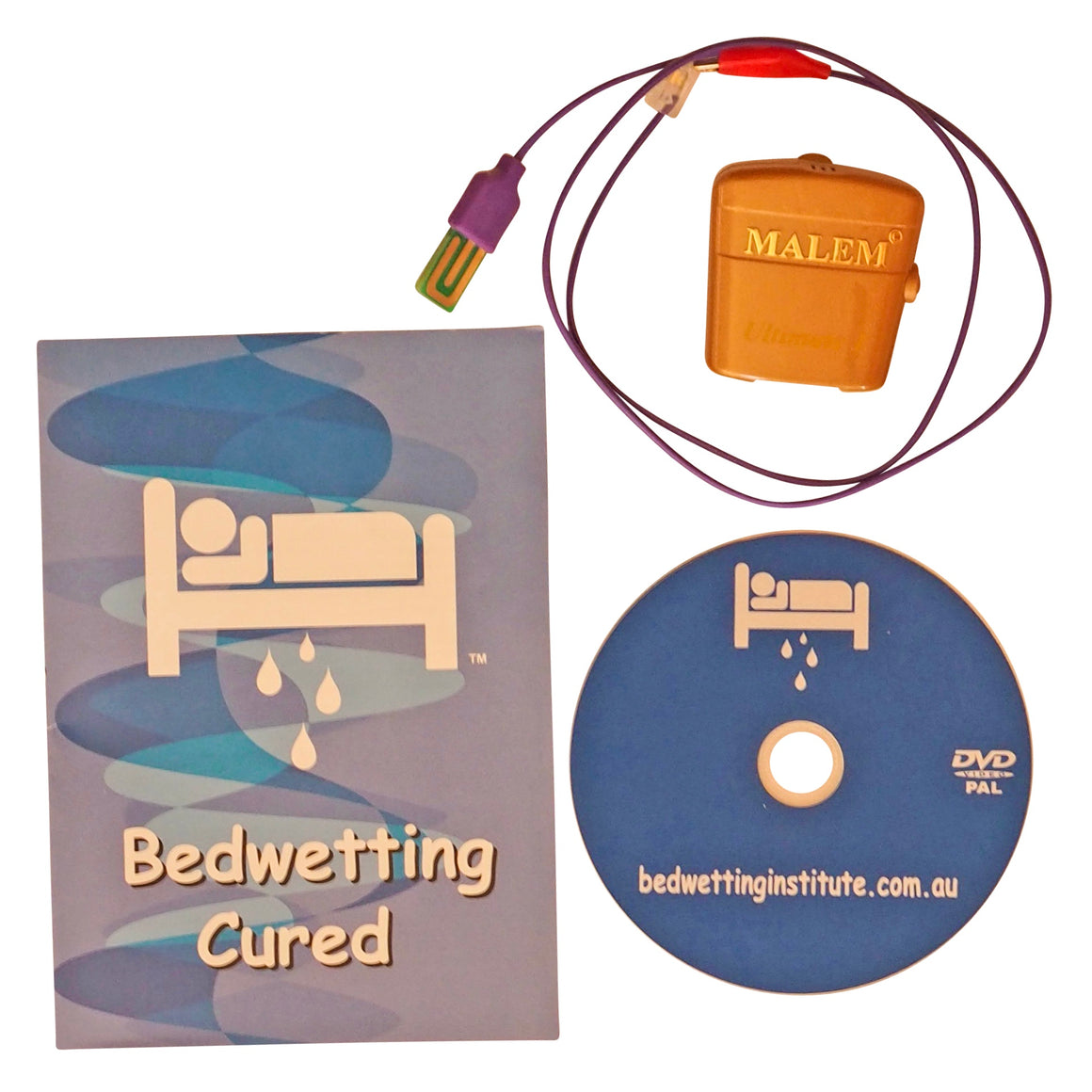 Malem Gold Ultimate Bed wetting Alarm + bonus Bedwetting Cured DVD