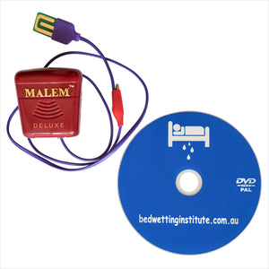 Malem DELUXE Bed Wetting Alarm 8 sounds + DVD Bedwetting Cured