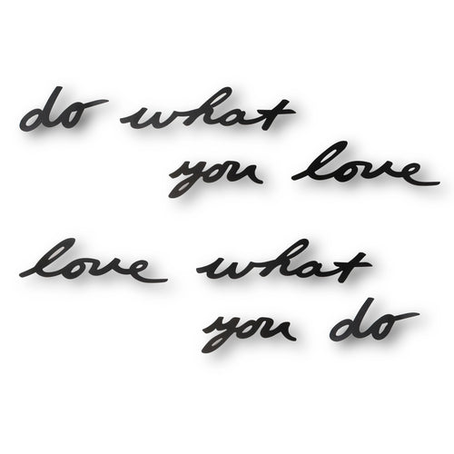 (PREVENTA) Decoración de Pared MANTRA DO WHAT YOU LOVE