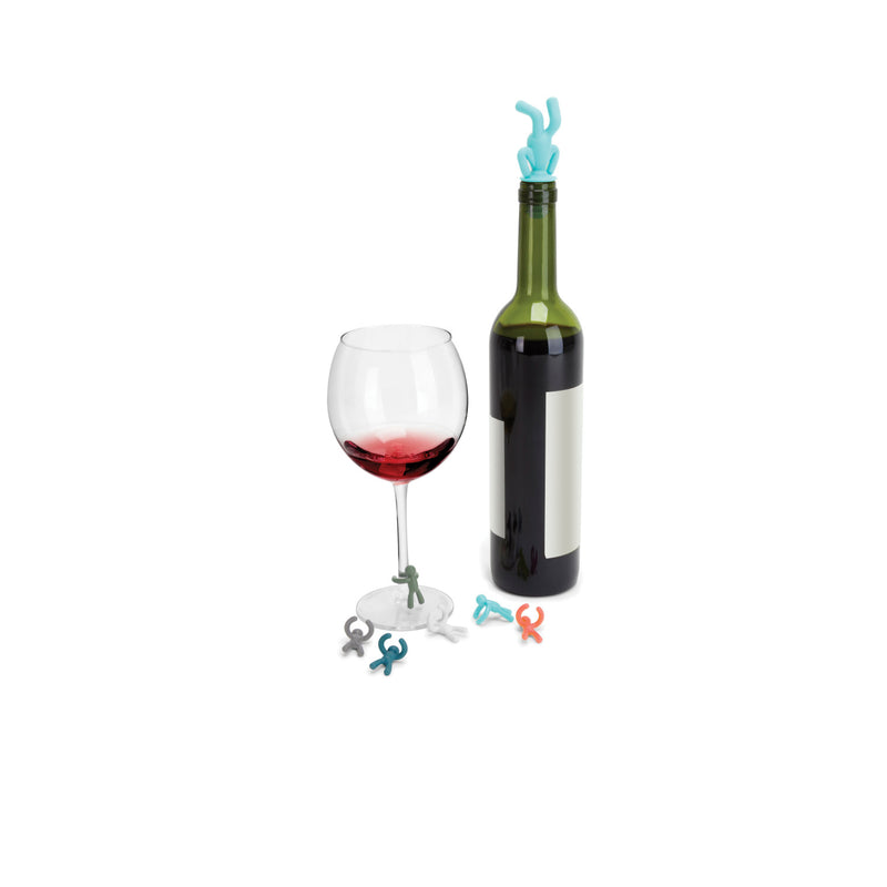 Marcador de Copas y Corcho Reusable DRINKING BUDDY - Multi