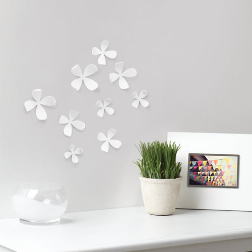 Decoración de pared FLOR (25) - Blanco