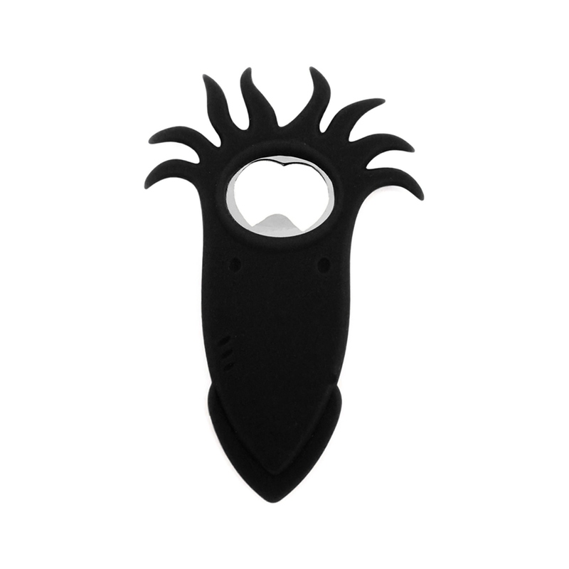black squid bottle opener