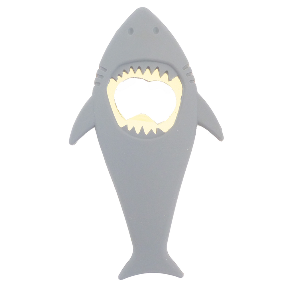 grey shark bottle opener