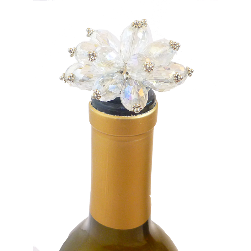 clear bouquet bottle stopper