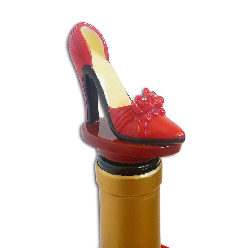 red high heel bottle stopper