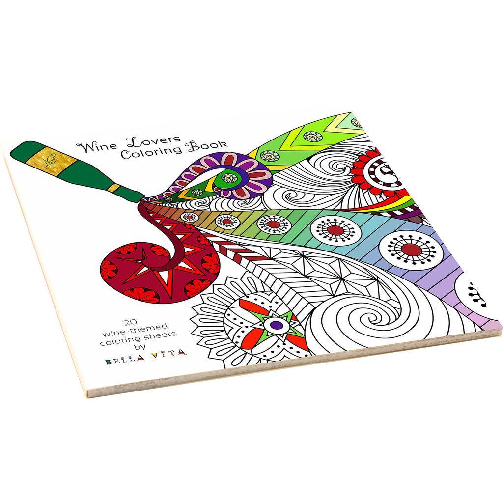 wine coloring book