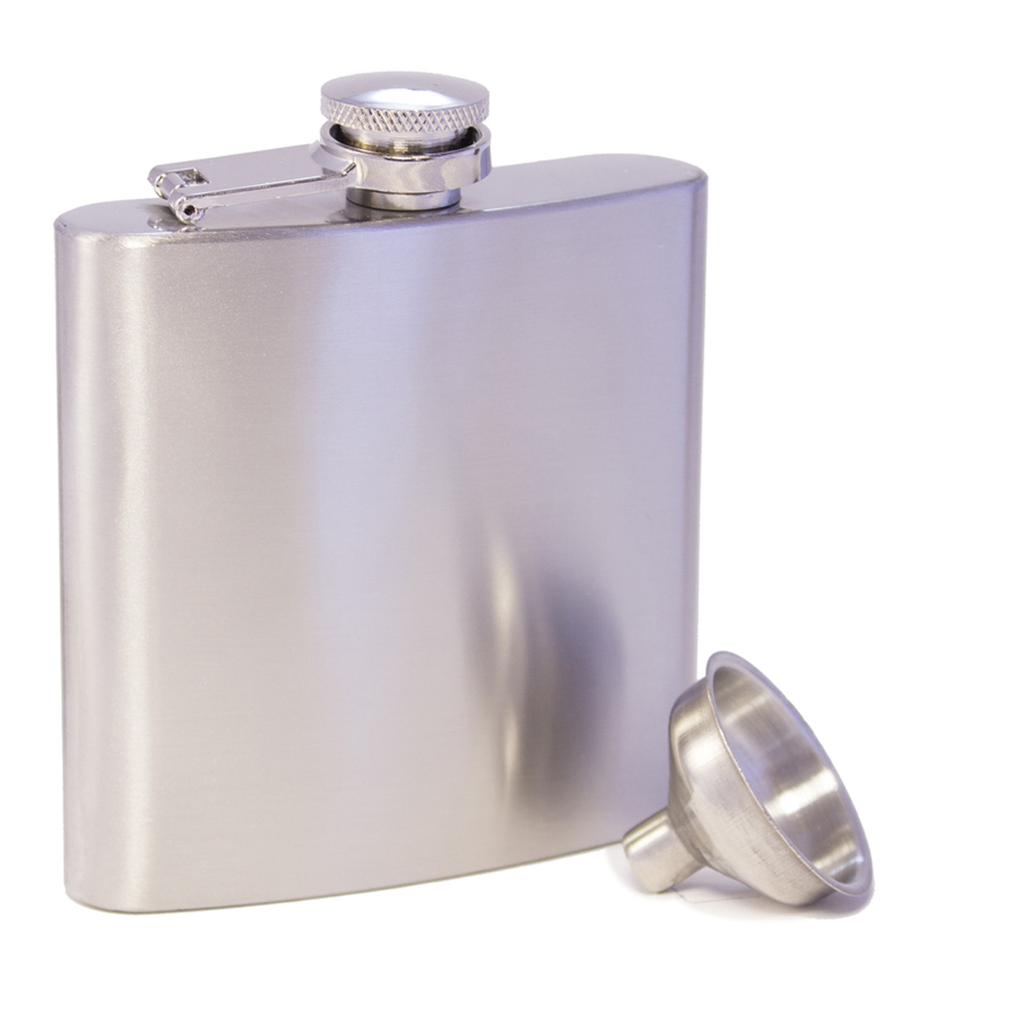 stainless steel flask with funnel