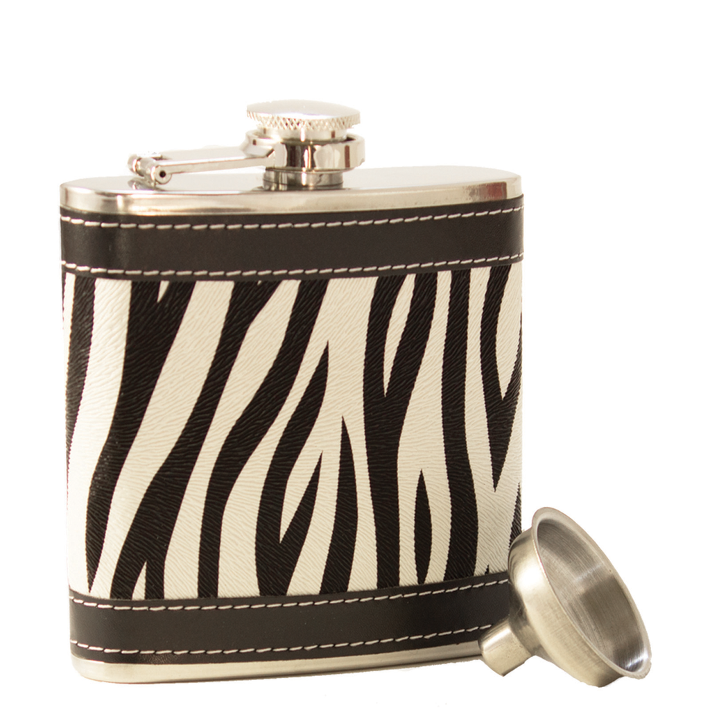 stainless steel zebra pattern with funnel
