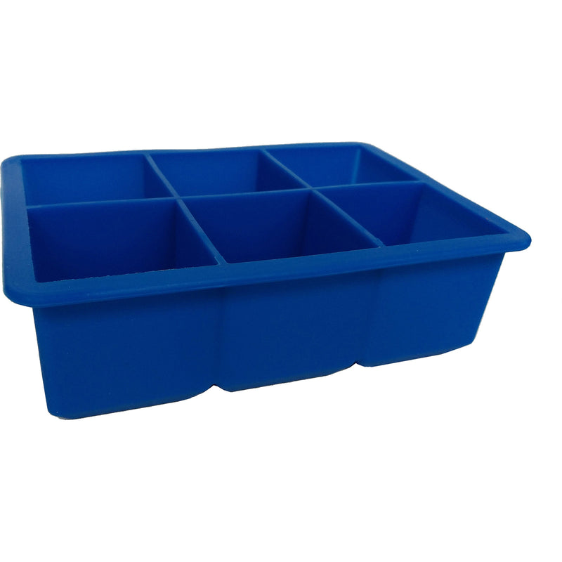 blue clear silicone giant ice cube tray
