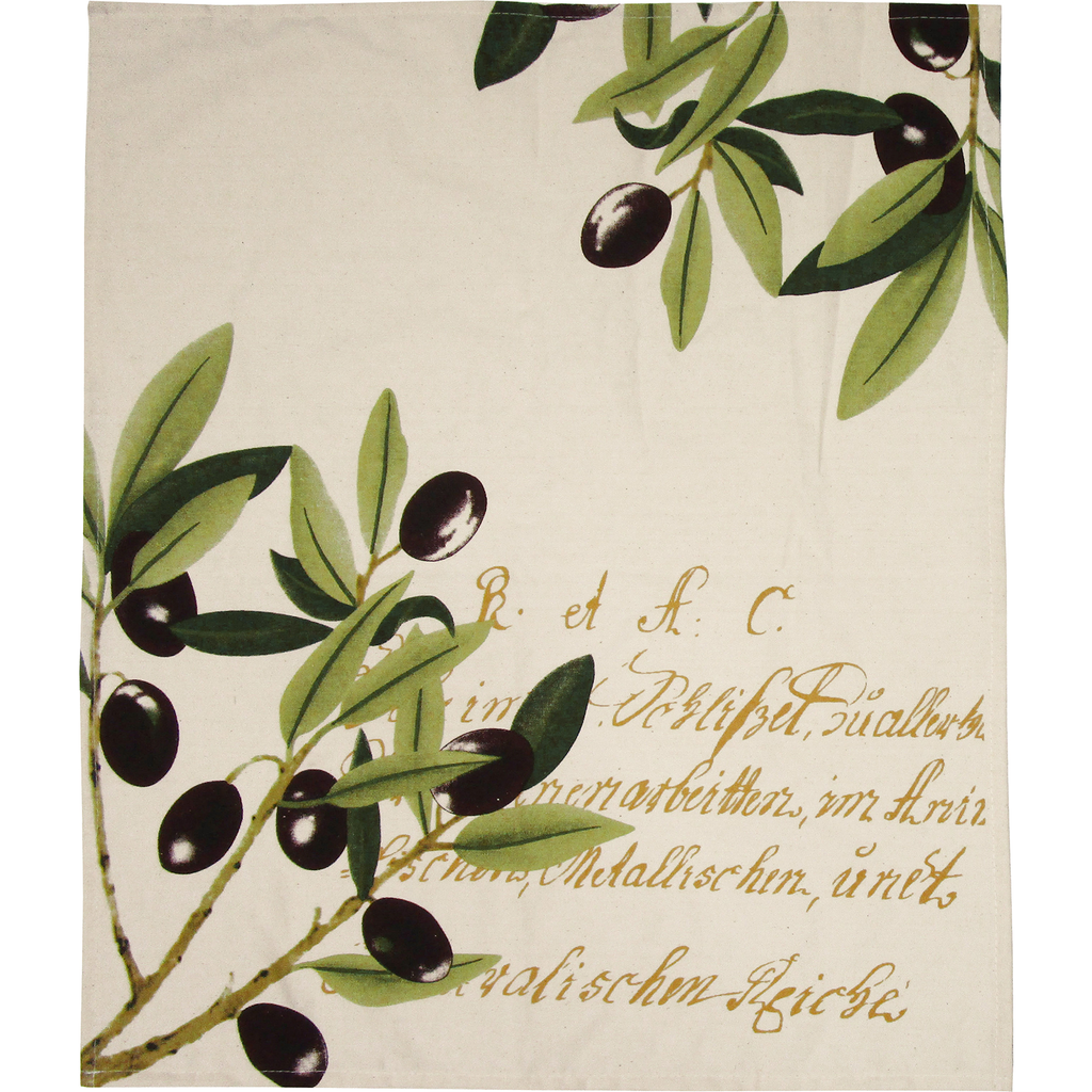 oliva cotton dish towel