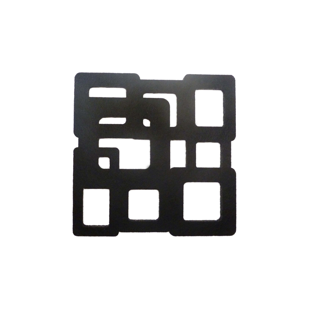 black cubes felt coasters