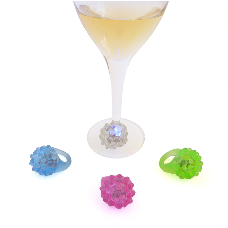 bling ring silicone wine charms