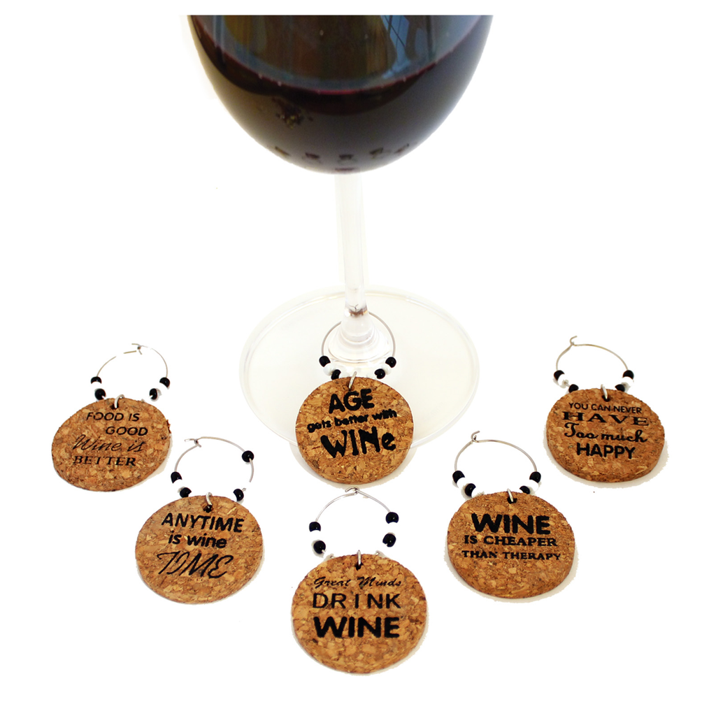 cork fun wine charms