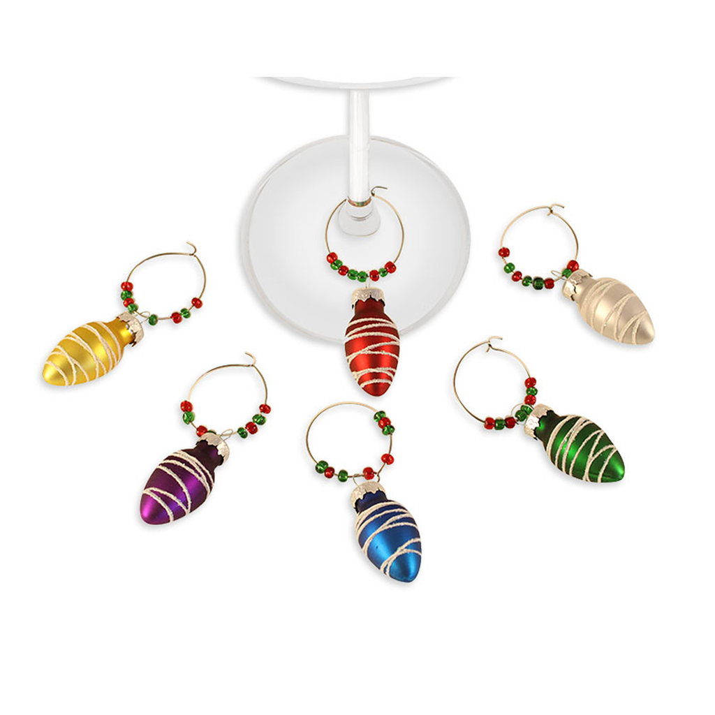 festive ornament wine charms