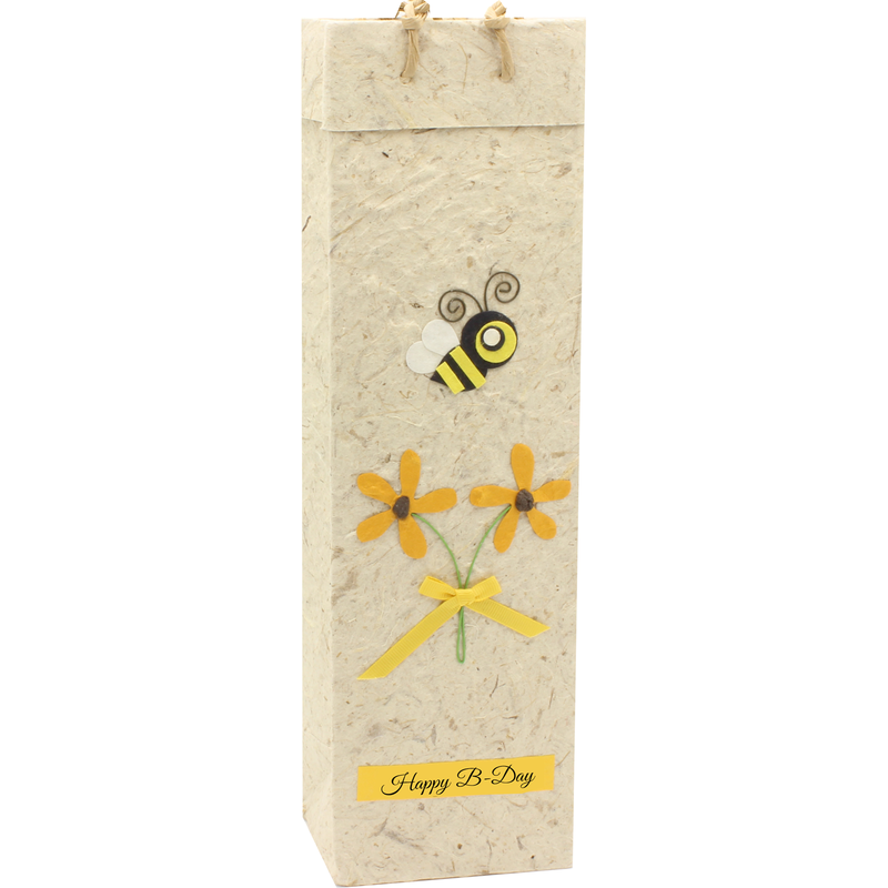 birthday bee wine bottle bag