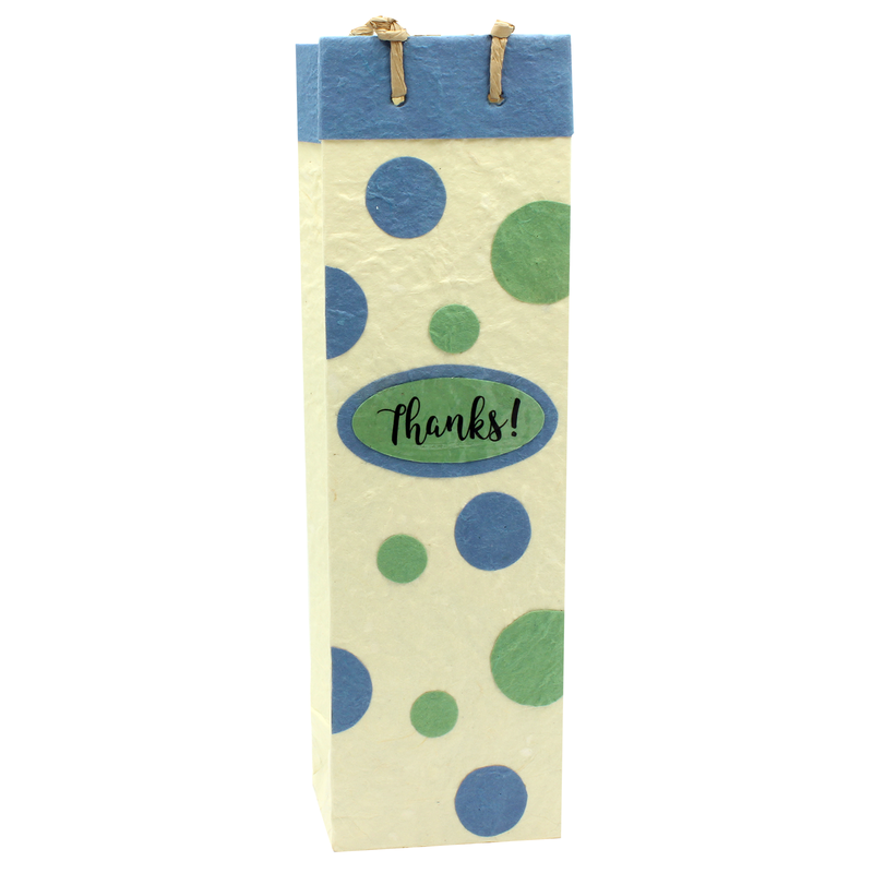 eco friendly thanks appreciate wine bottle bag
