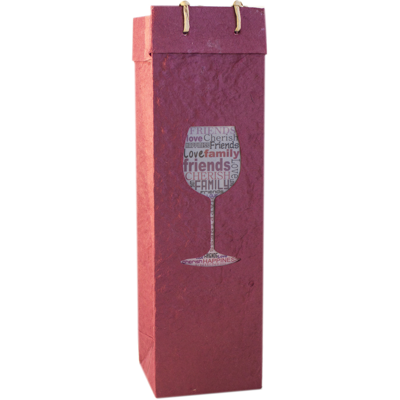 cherish wine bottle bag