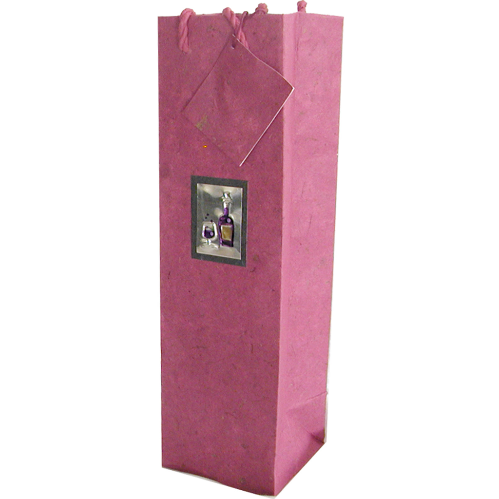 pink wine bottle bag