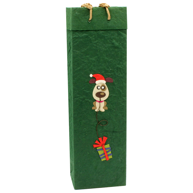 holiday eco friendly fido wine bottle bag