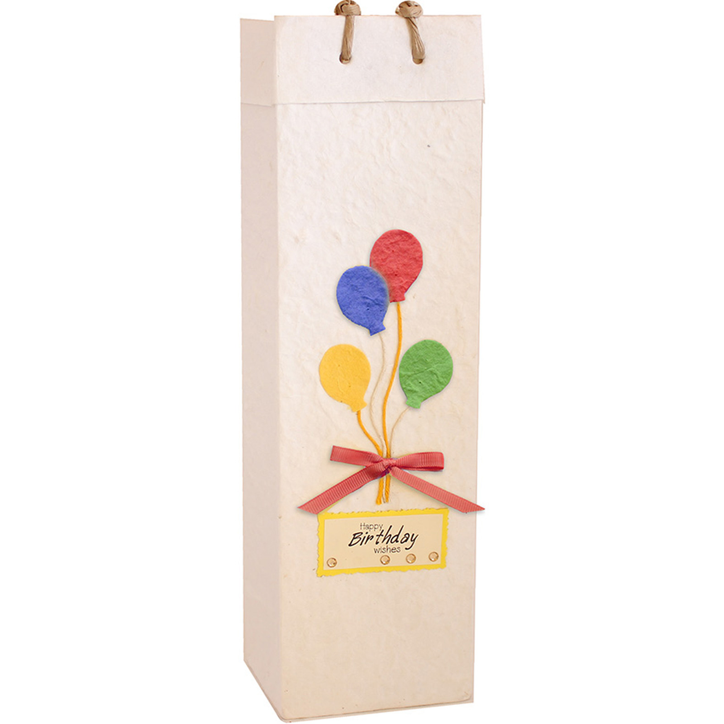 floating birthday baloon wine bottle bag
