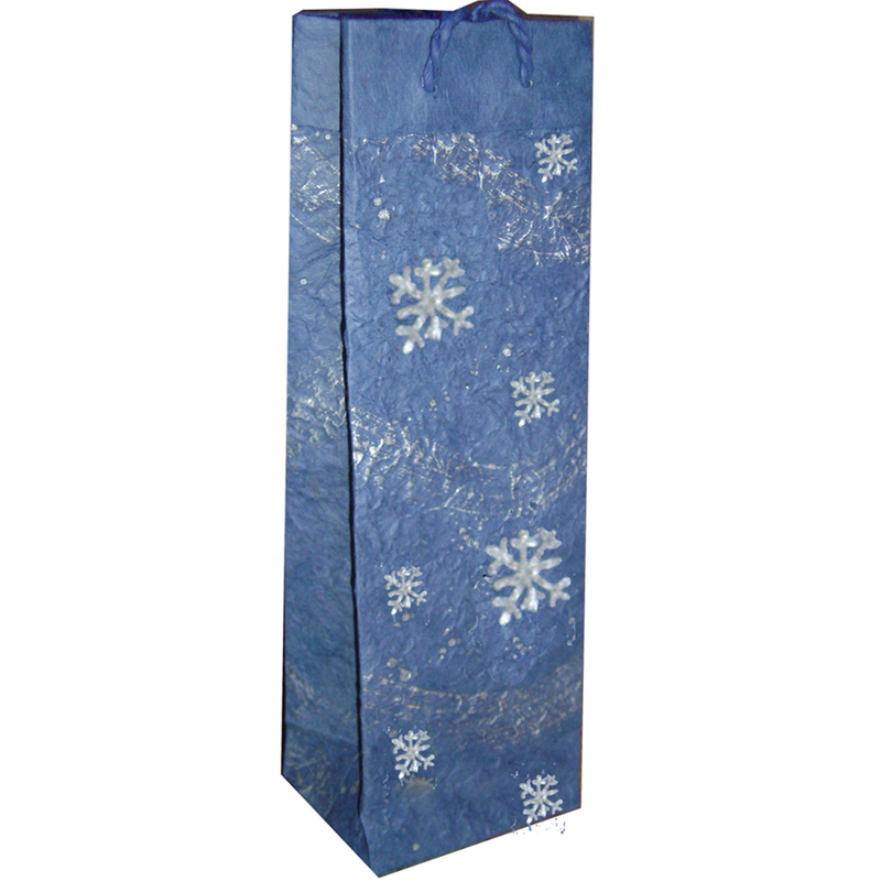 snow flake wine bottle bag