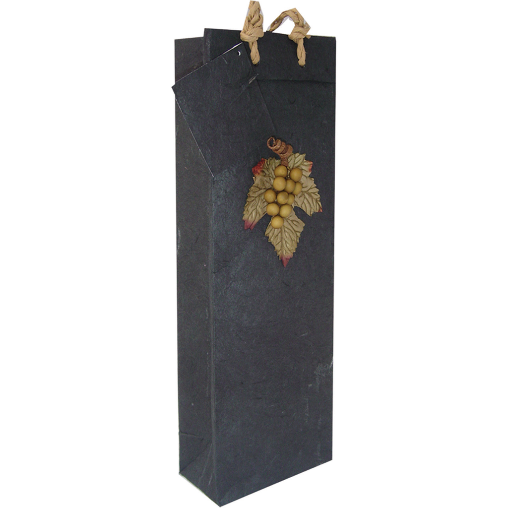 black grapes wine bottle bag