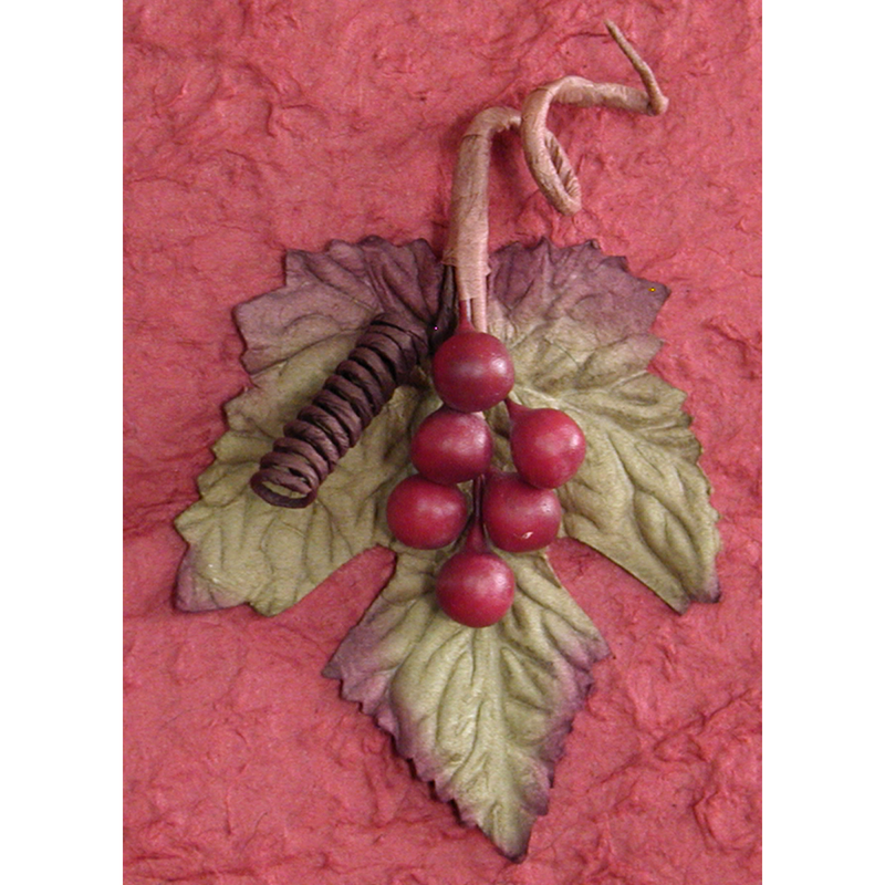 red wine bag with leaf