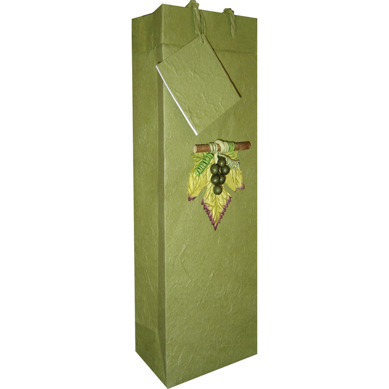 olive 3d grapes wine bottle bag