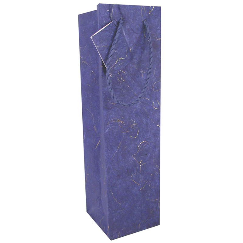 blue and gold wine bag