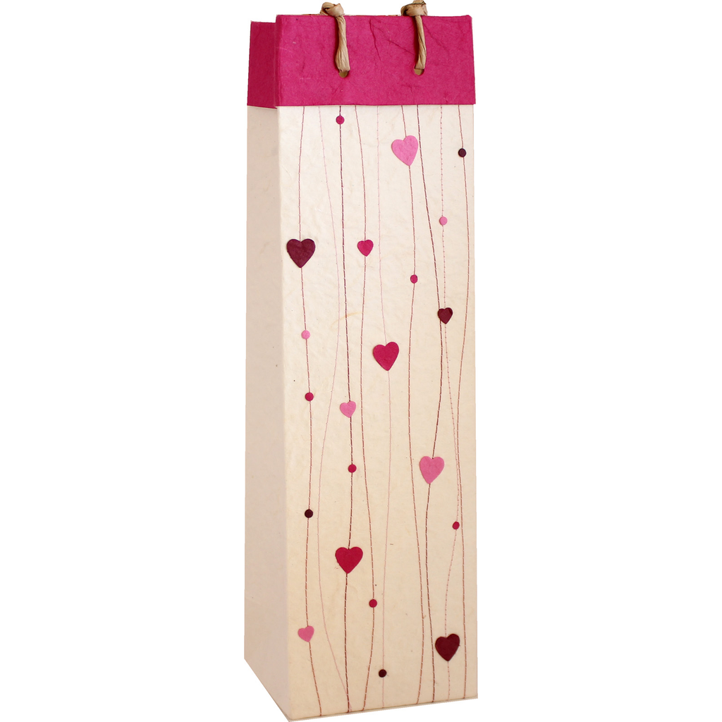 heart bottle gift bags