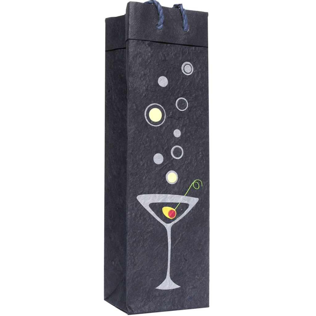 martini wine bottle bag