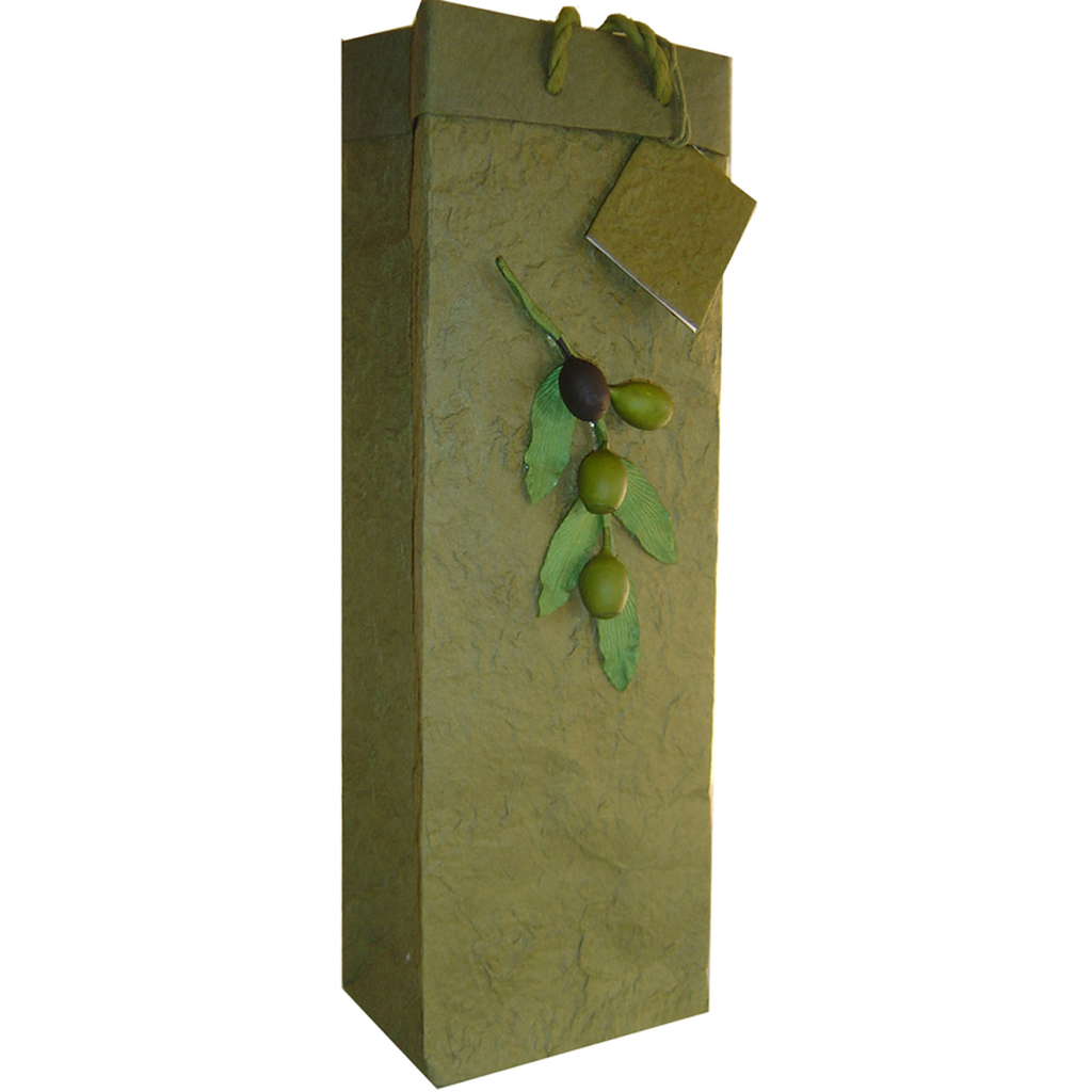 olive branch wine bottle bag