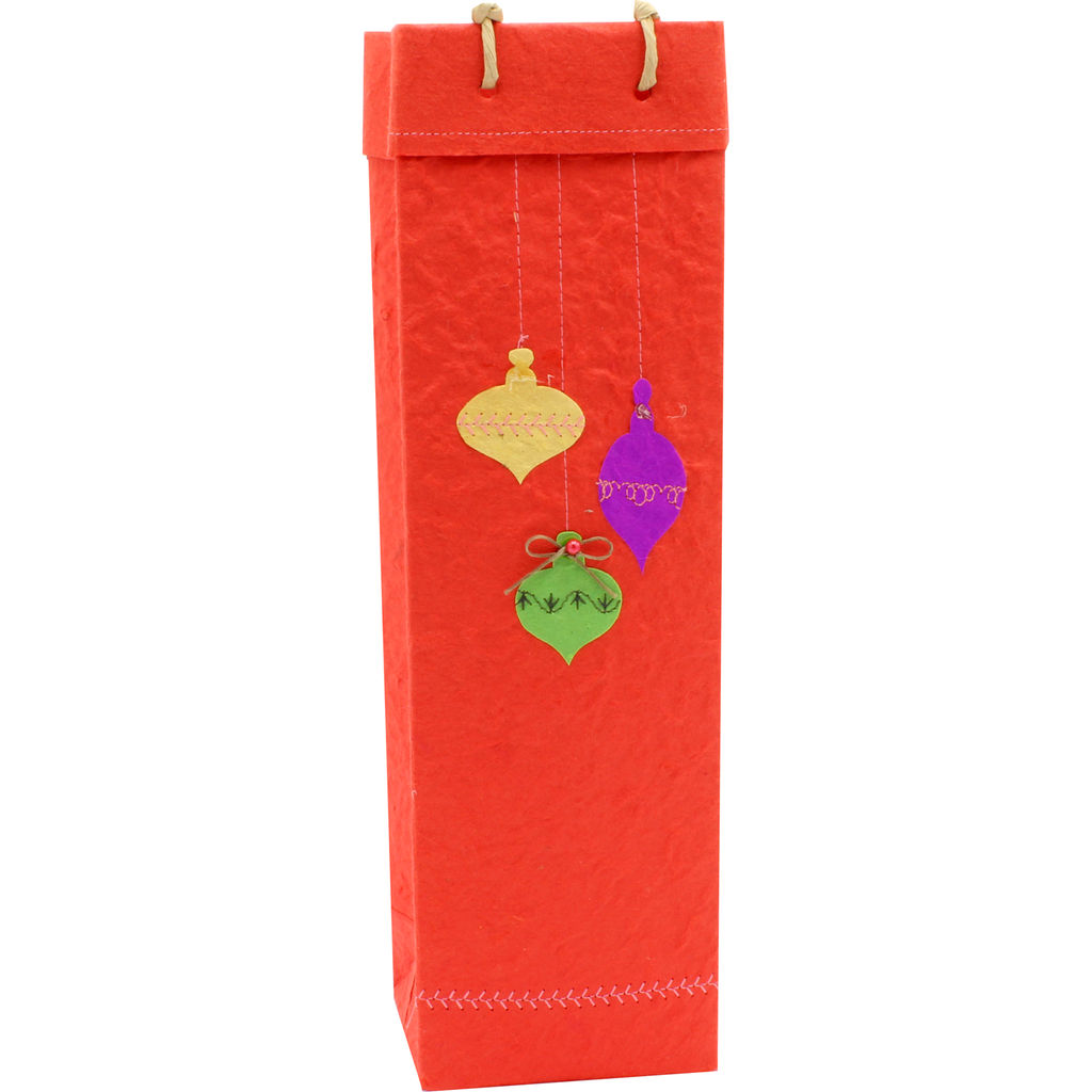 christmas ornaments wine bottle bag