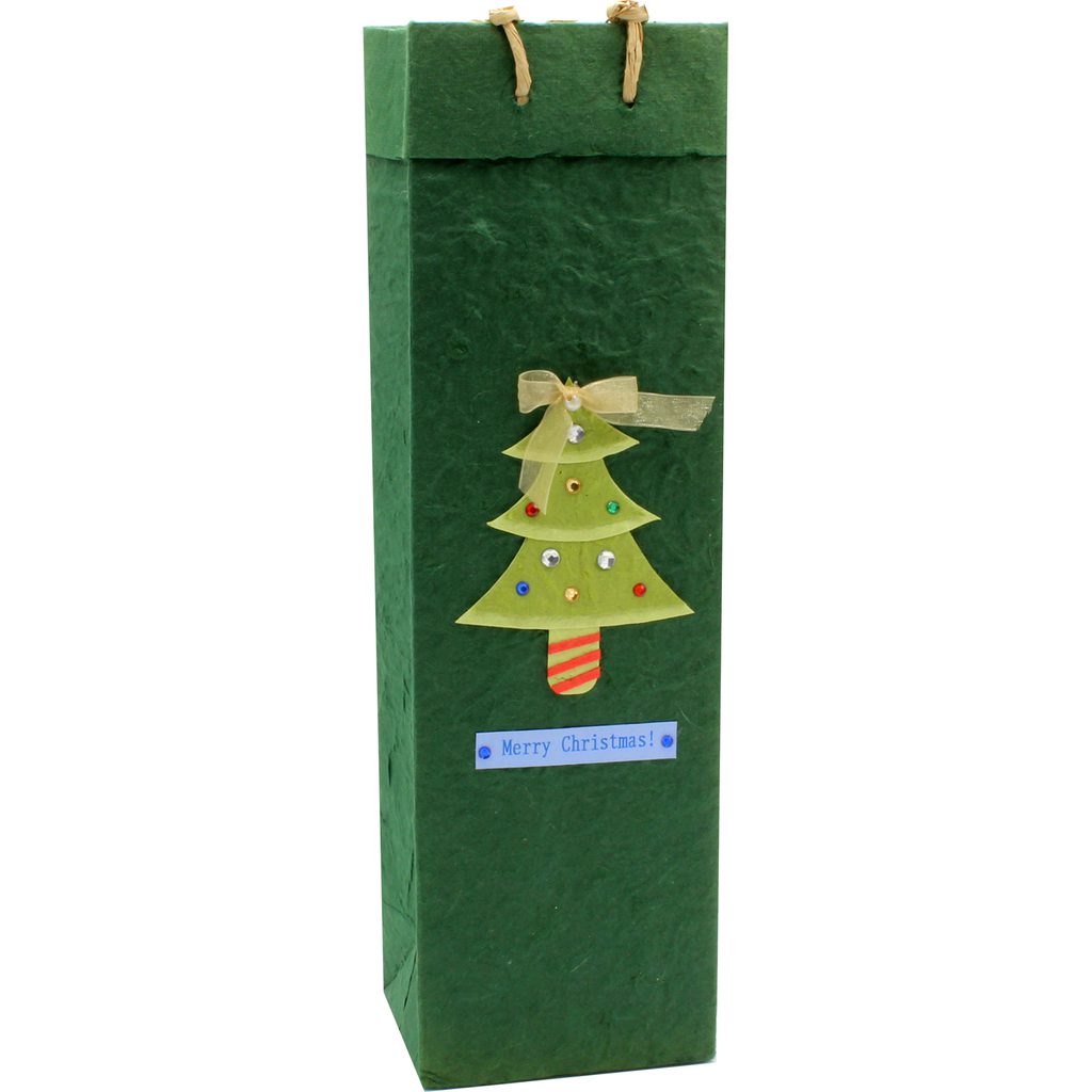 Christmas tree wine bag