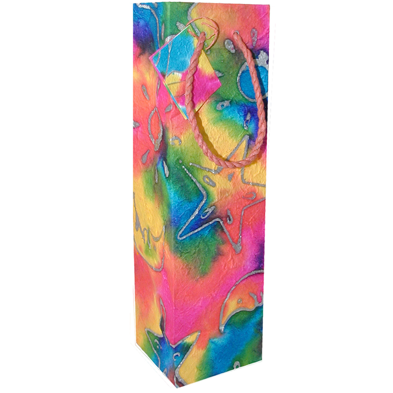 tye dye wine bottle bag