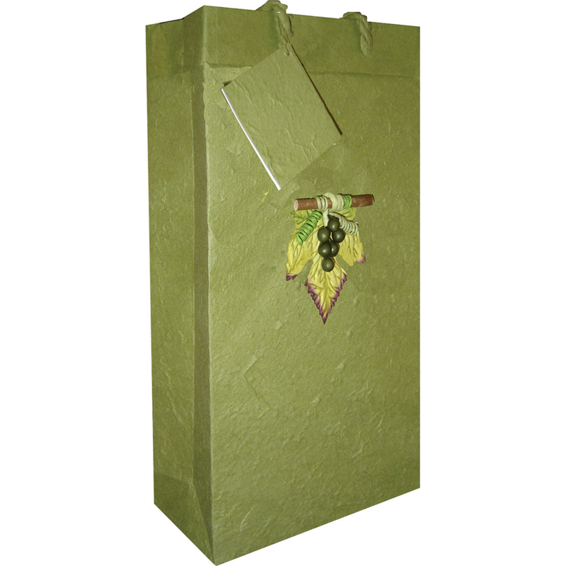 green paper wine bags