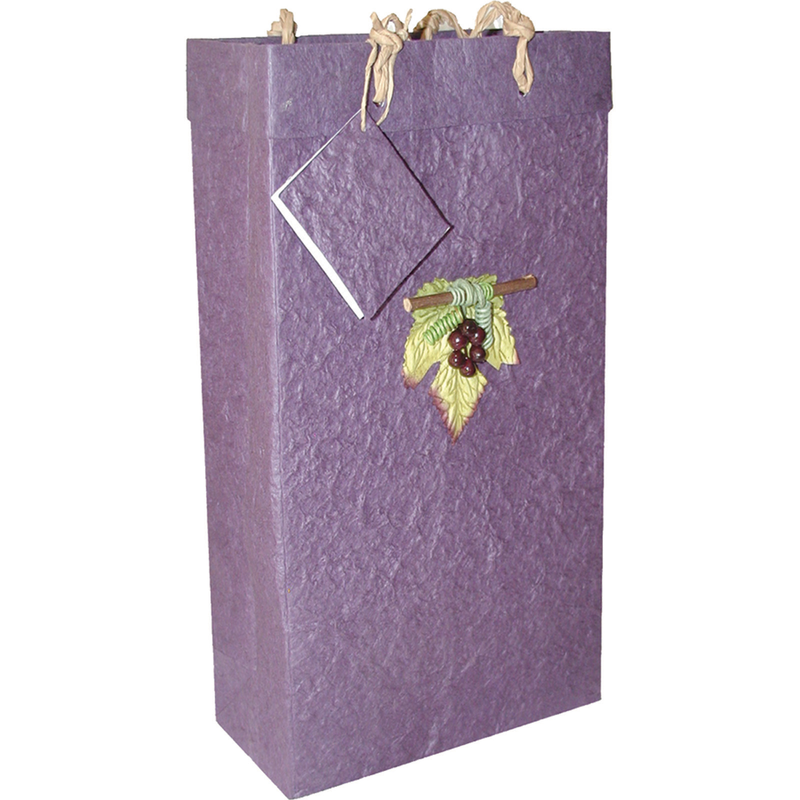 purple wine bags